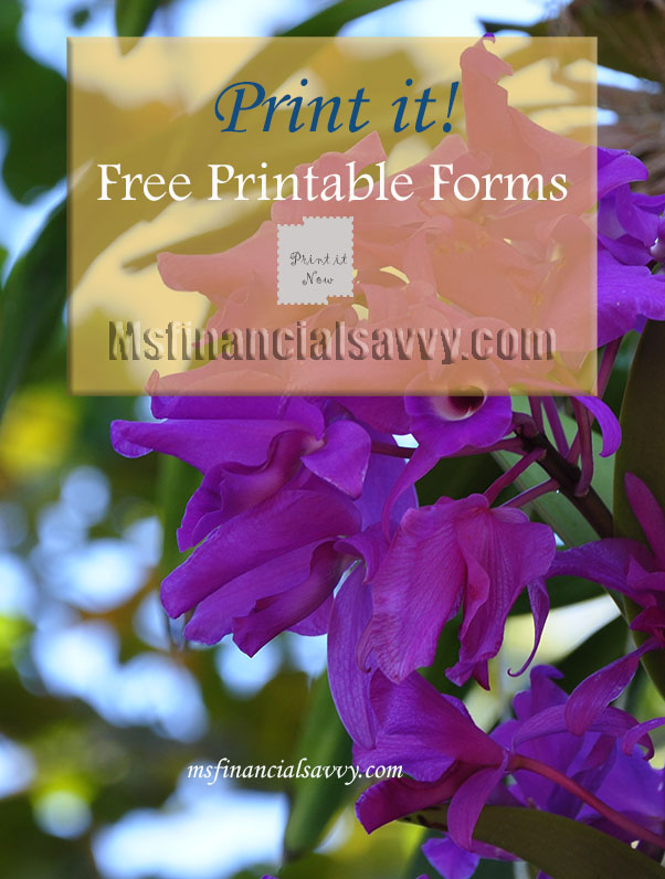 free printable forms at msfinancialsavvy.com