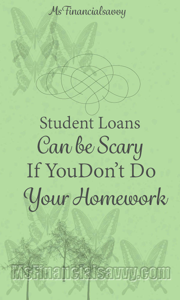 Student loans can be scary