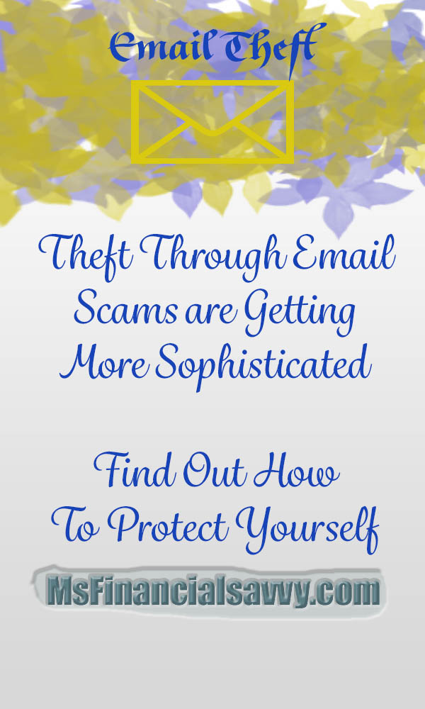 Theft through email scams