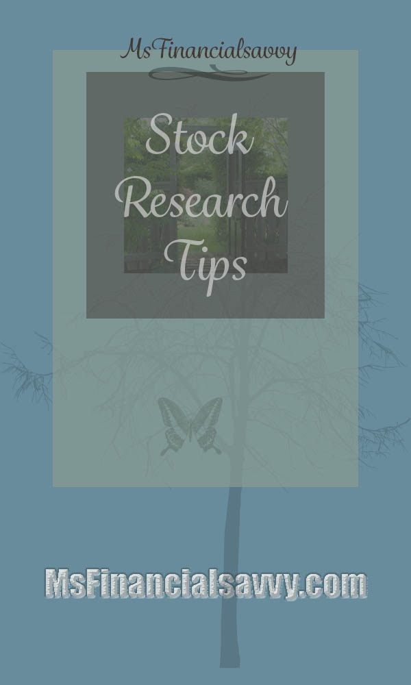 Stock research tips and stock tips
