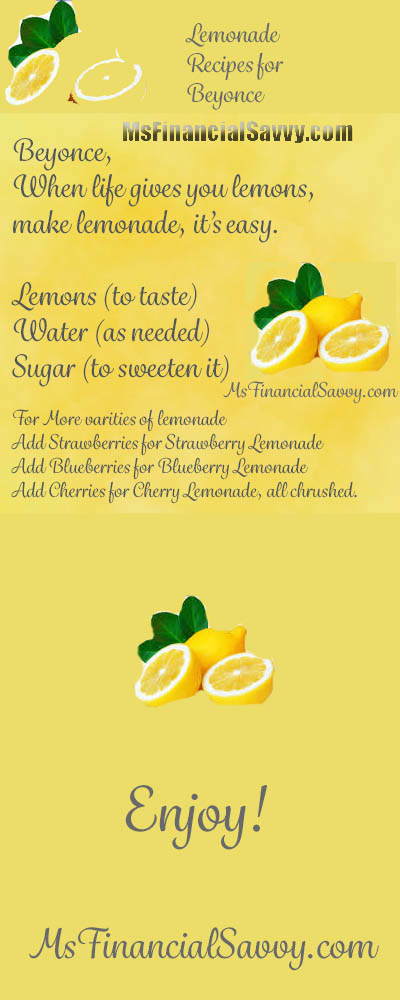 Lemonade Recipes for Beyonce