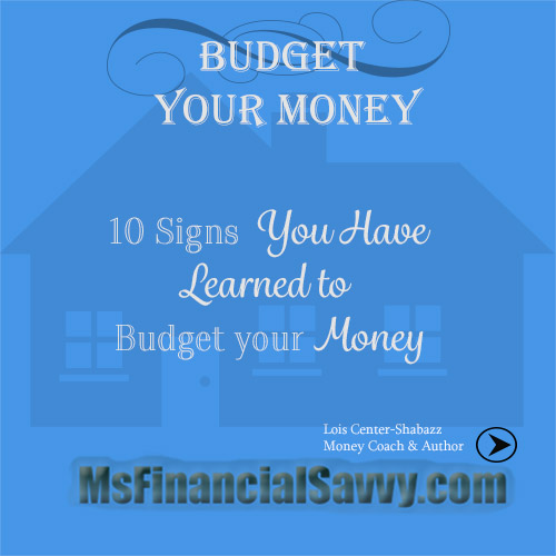 budget your money
