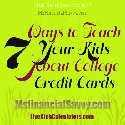 teach your kids college credit cards
