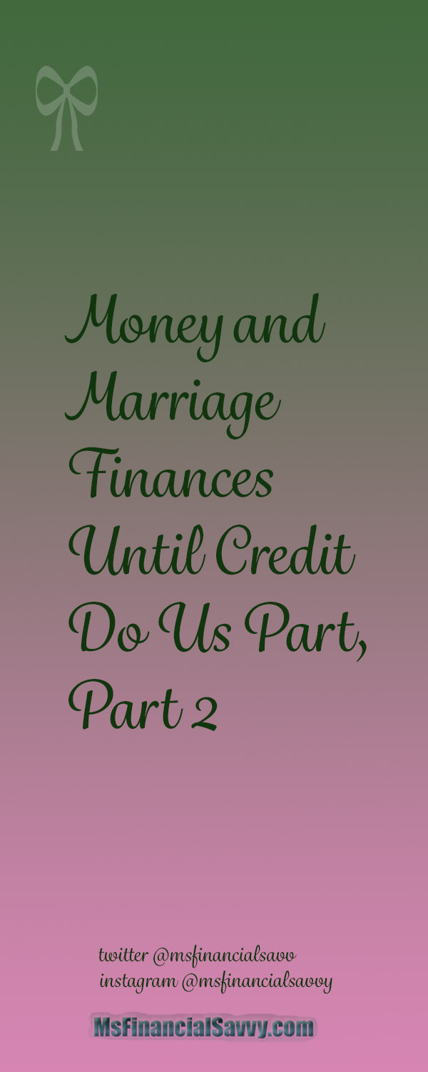 Money before Marriage Finances