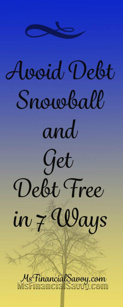 avoid debt snowball