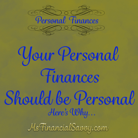 personal finances should be personal