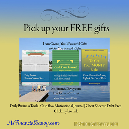 You can pick up your personal finance and small business gifts.