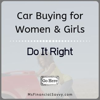 Car buying for women and girls.