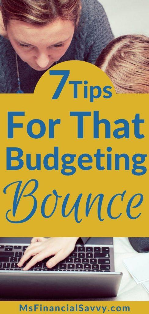 Big thing budgeting in 7 ways