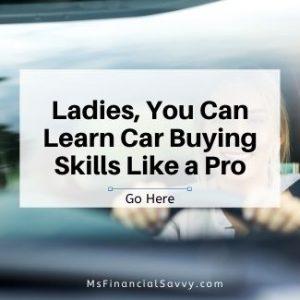 Learn car buying skills like a pro