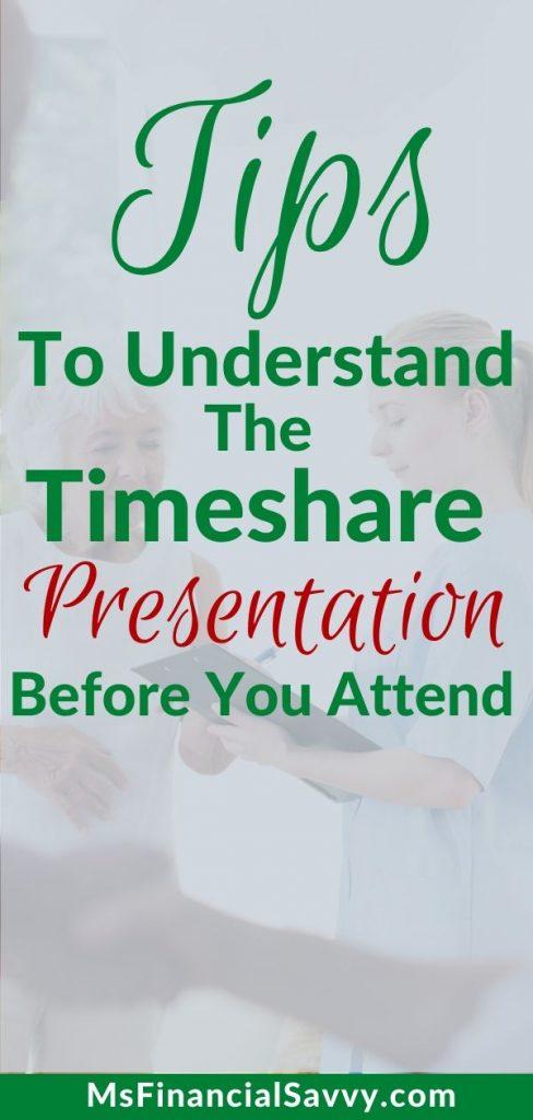Time share presentation