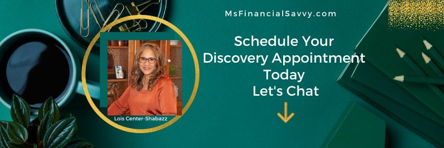 schedule a discovery session, course for fantastic finances, MsFinancialSavvy.com talks